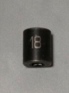 "MATCO #BP18M6V, 3/8"" Dr. 18mm. Impact Socket, Shallow, 6 Point."