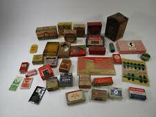 Random lot of antique advertising boxes and tin vtg junk drawer lot jar store