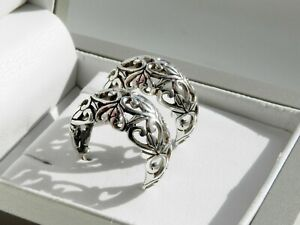 ✨GORGEOUS✨ 7g sterling silver 925 stamped cut out filigree huggies