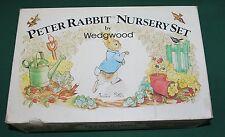 WEDGWOOD PETER RABBIT BEATRIX POTTER NURSERY SET PLATE+MUG+BOWL Boxed NEW