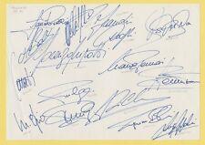 PARMA e.c.w.c. vincitori 1993 mano originale firmato BOOK pagina X 16 firme