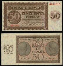 ESPAÑA 50 pesetas. Año 1936. BURGOS. Serie Q. Nº 074613. Conservación SC-. RARO.