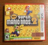 Super Mario Bros. 2 (Nintendo 3DS, 2012), Excellent Condition, Game/Case/Manual