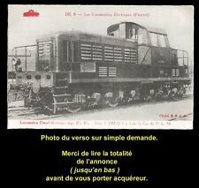 TRAIN, CHEMIN de FER, Carte postale n° 8, LOCOMOTIVE DIESEL-ÉLECTRIQUE, PLM