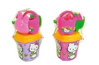 Androni Hello Kitty Herz Sand Eimer 6 teilig Sandkasten Spielzeug Eimergarnitur