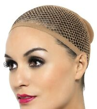 Ladies Fancy Dress Wig Cap Stretches to Cover Hair under Wig Beige Mesh Smiffys