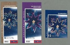 CANADA 2005 Set of 3 Booklets  - CHRISTMAS STAR - F/v = $19.80 - Complete - MNH