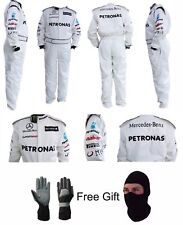Go Kart Mercedes PETRONAS Race Suit CIK/FIA Level 2 Approved With Free Gifts