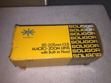 Vintage SOLIGOR 75-205mm F3.8 - Zoom & Macro Lens - To Fit Canon FD