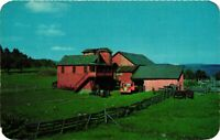 Vintage Postcard - Central Valley Big Red Barn On Farm New York NY #1703