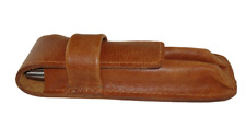 Leather Fountain pen case 2 Pen/pencil case collectable writing hand crafted U.K
