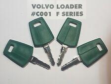(4) Volvo Loader Keys, # C001 F Series Heavy Equipment Ignition Start Starter