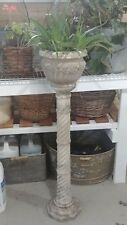 Antique solid marble plant stand