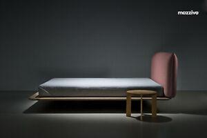 Design Bett NUVOLA 180x220 modern zeitlos schlicht Polster Holz Eiche Esche