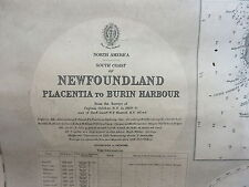 Antique British Admiralty Map Chart Newfoundland Placentia Burin Hbr 1876-79