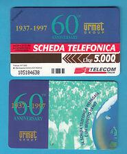 SCHEDA TELECOM 60° URMET TELEFONICA NUOVA C&C 2704 GOLDEN 652 SC. 31.12..99