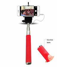 Monopod Selfie Stick Telescopic Wired Remote Mobile holder Apple iPhone 5 5S 5C