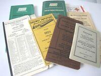 1968 72 Penn Central Pennsyvania Railroad 8 Lot Maps Table Brotherhood Saddler's