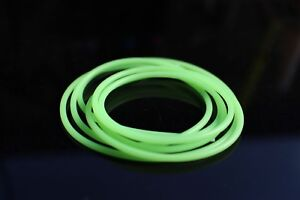 6m Red Luminous Green Silicone Tube 1mmX2mm Soft Flexible tubing Fly Tying Tubes