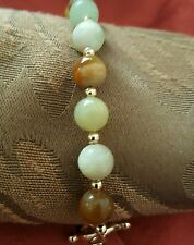 SALE! FASHION GRADE A JADE BEAD BRACELET WITH 14K GOLD FILLED BEADS $30!!