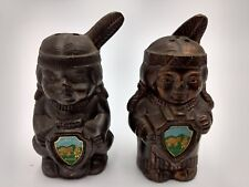Virginia City Nevada Chief & Squaw Salt & Pepper Shaker Set Vintage Collectible