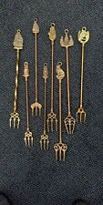 More details for a selection of eight brass toasting forks