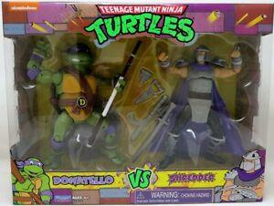"2021 Playmates TMNT 6""Figure 1990's TV Cartoon 2-Pack Donatello vs Shredder Excl"