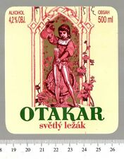 Czech Beer Label - Policka Brewery - Czech Republic - Otakar