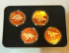 "RARE No. 1 2014 Set of  4 x 1 OZ ""The Dinosaur Collection"" in Collectors Tin"