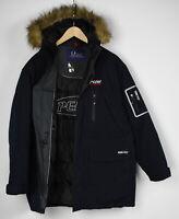 PEAK PERFORMANCE GORETEX R&D EXPEDITION PARKA Men L Down Fur Hood Jacket 30944_S