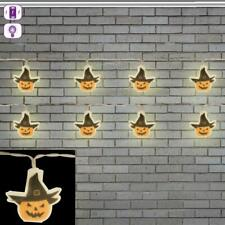 Halloween Pumpkin Witch Hanging LED String Lights 1.5m Spooky Decoration Garland
