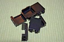 "(6) Black 2X2 ""["" Shaped Wall Panels ~ Lego ~ NEW ~ Castle"