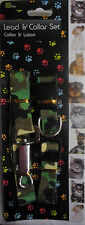 Army Camouflage Dog Adjustable Collar and Lead Set (Approx. 1m) For Small Dogs