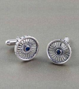 Chakra wheel of progress Cufflinks Men 925 Italian sterling silver gift highend