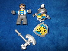 LEGO DUPLO RITTERBURG RITTER + RÜSTUNG + SCHILD + AXT 4785 4777 4779