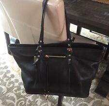 STEVEN by Steve Madden Black Leather Tote Shopper Satchel Handbag