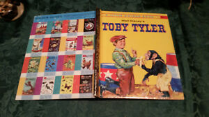Little Golden Book WALT DISNEY TOBY TYLER 1ST1960 Monkey Circus SAM MCKIM vgood