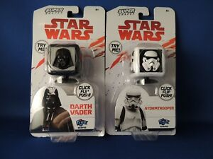 New Set 2 Star Wars Darth Vader Storm Trooper Fijix Cubes Series 1 Disney Toy