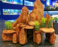 Desert Nevada Rock Cave with Plant Aquarium Fish Tank Ornament 335
