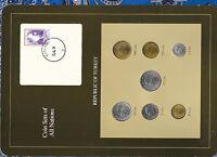 Coin Sets of All Nations Turkey 1986-1992 UNC 500 Lira 1990 100 Lira 1992