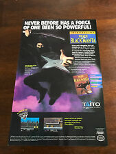 "1990 VINTAGE 6.5""x10"" PRINT AD NINTENDO NES GAME WRATH OF THE BLACK MANTA NINJA"