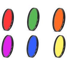 72mm Color Lens Filter camera accessories For 72 lens Red Purple Orange Blue