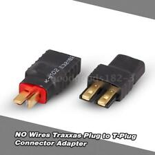NO Wires Traxxas Plug Female to T-Plug Male(Deans) Connector Adapter F0H7