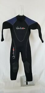 Henderson size 4 youth thermoprene black and blue divewear full wetsuit 3mm