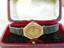 ROLEX 18K WATCH WITH SUPER-RARE 1920 DATED MOVEMENT, RETAILER'S BOX, SERVICED.