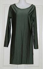 NWT Womens size 12 Fiona Disco scoop neck khaki dress by BOO HOO