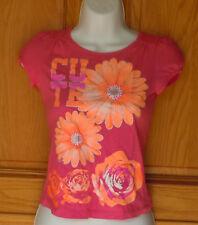 365 Kids From Garanimals Girls Size M 8 Magenta Floral T Shirt