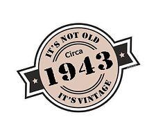 Non è vecchio intorno al 1943 ROSETTA Emblema PER CASCO DA MOTO AUTO ADESIVO VINILE