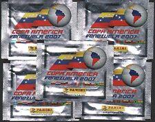 Italy 2007 Panini Copa America Venezuela Sticker Pack x5 glossy