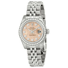 Rolex Lady Datejust 26 Pink Gold Crystal Dial Stainless Steel Jubilee Automatic